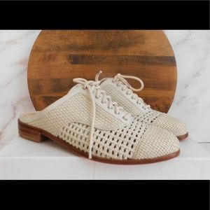 Woven white mules so 39